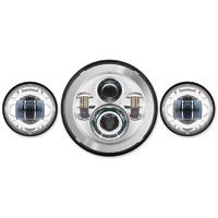 HogWorkz LED Chrome Headlight Lighting Kit