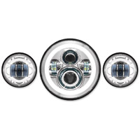 HogWorkz LED Chrome HaloMaker Headlight Kit