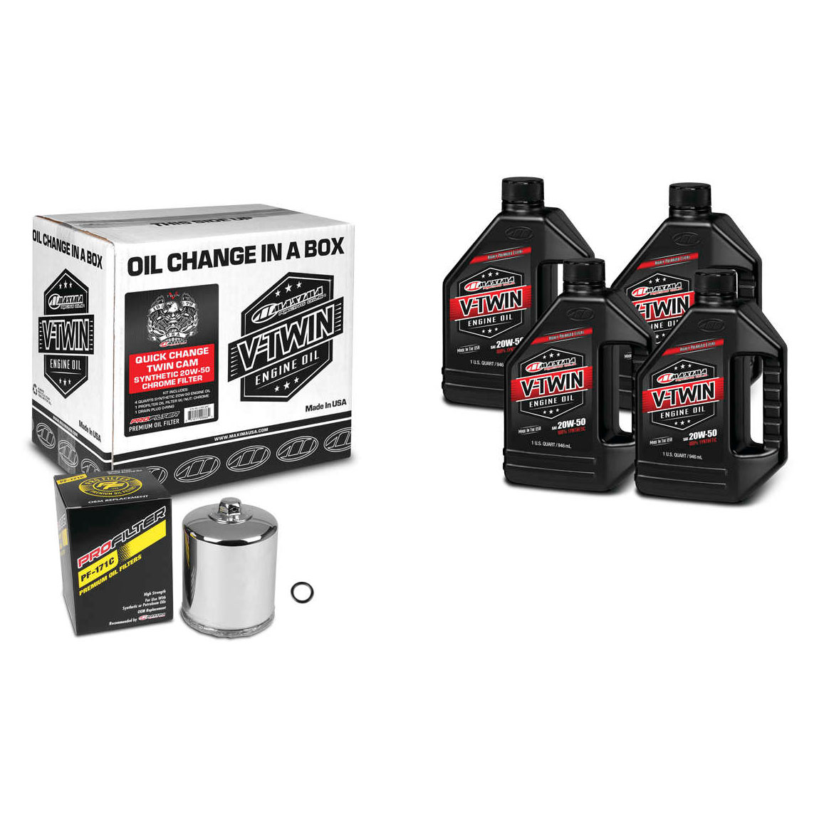 Maxima 20W-50 Synthetic Quick Oil Change Kit