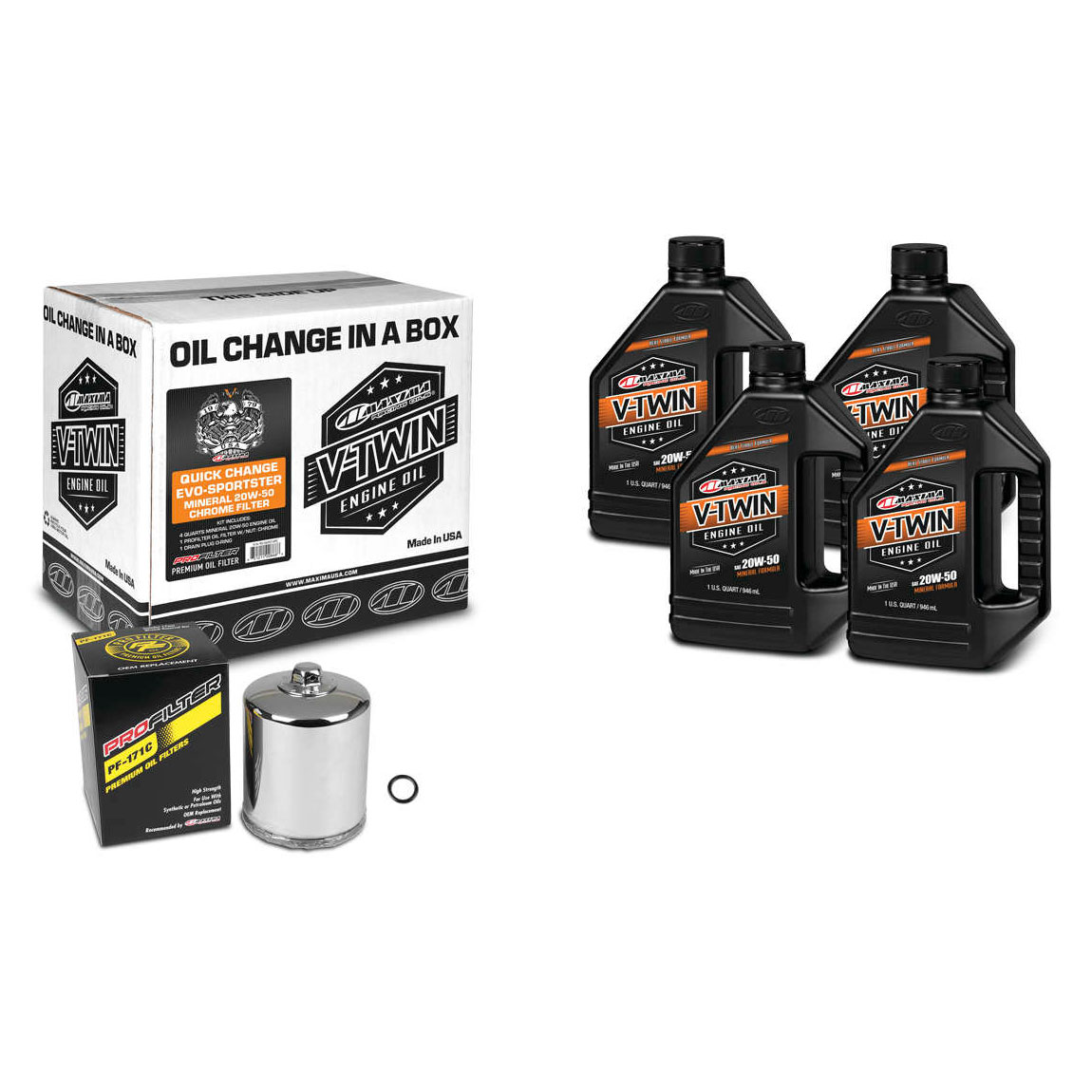 Maxima 20W-50 Quick Oil Change Kit