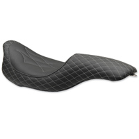 Mustang Revere Journey Diamond Gun Metal Gray Thread 2-Up Seat