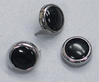 Black Pearl Center Chrome Studs