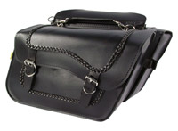 Willie & Max High-Pipe Braided Slant Saddlebag