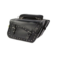 Willie & Max High-Pipe Studded Slant Saddlebag