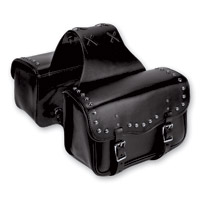 Carroll Leather Studded Throwover Saddlebags