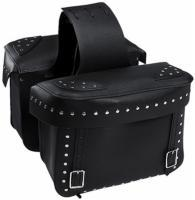 Carroll Leather Large Saddlebags With Rivits