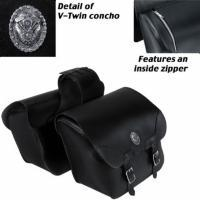 Carroll Leather Saddlebags With Front Vertical Zippers