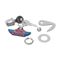 V-Twin Manufacturing Lock and Hook Kit for Fiberglass Saddlebags