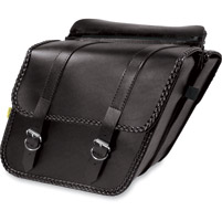 Willie & Max Braided Collection Compact Slant Saddlebags