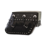 Pac-Kit Studded Daytona Custom FXD Saddlebags with Black Brackets