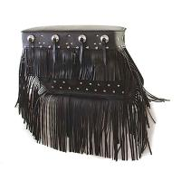 Pac-Kit 'The Bertha, King of Fringe' Studded Saddlebags