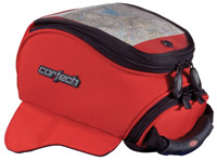 Cortech Super Mini Red Strap Mount Tank Bag