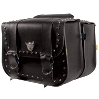 Willie & Max Silver Eagle Studded Collection Touring Saddlebags