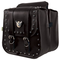 Willie & Max Silver Eagle Studded Collection Saddlebags
