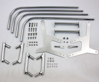 V-Twin Manufacturing Saddlebag Guard Chrome Kit