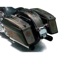 Sumax Hard Saddlebags for Softails without Light Holes