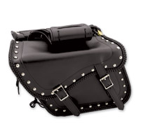 Dream Apparel Saddlebag & Accessory  Studded Throwover Zip-Off Saddlebags
