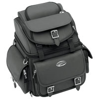 Saddlemen BR1800EX Plain Backrest, Seat and Sissybar Bag