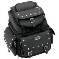 Saddlemen BR1800EXS Studded Backrest, Seat and Sissybar Bag