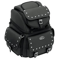 Saddlemen BR3400EXS Studded Backrest, Seat and Sissybar Bag