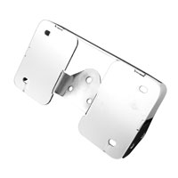 Easy Brackets Chrome Laid Down License Plate / Turnsignal Relocation Kit