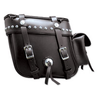 Leatherworks, Inc. Deluxe Box Top Studded Saddlebags