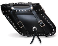 Leatherworks, Inc. Wide Angle Box Top Studded Saddlebags