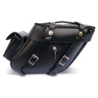 Leatherworks, Inc. Wide Angle Box Top Saddlebags With Rear Pockets