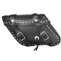 Leatherworks, Inc.  Wide Angle Slant Box Top Studded Saddlebags