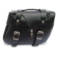 Leatherworks, Inc. Angle Split Lid Box Locked Saddlebags