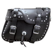 Leatherworks, Inc. Angle Split Lid Box Studded Saddlebags