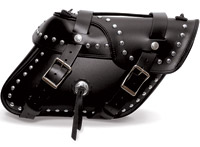 Leatherworks, Inc. Angle Split Lid Studded Saddlebags