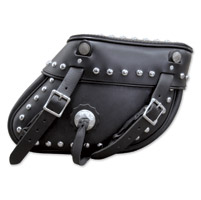 Leatherworks, Inc. Slanted Studded Saddlebags