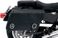Saddlemen Black Jumbo Highwayman Tattoo Saddlebag