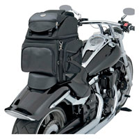 Saddlemen BR3400 Backrest Seat and Sissybar Bag
