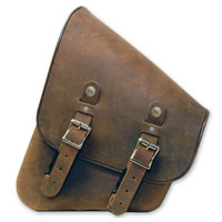 Leatherworks, Inc. Distressed Brown Leather Swing Arm Bag