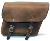 Leatherworks, Inc. Distressed Brown Economy Bolt-On Saddlebags