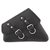 Black Solo Side Bag for Sportster
