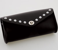 Eagle Leather Black Tool Bag with Stud Accents