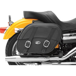 Saddlemen Drifter Saddlebags with Shock Cutaway