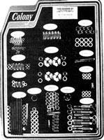 Colony Complete Stock Hardware Kit, Cadmium