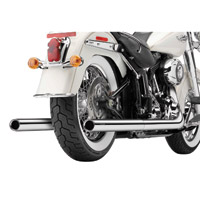 Cobra Softail Duals Full Exhaust Chrome with Billet Tips