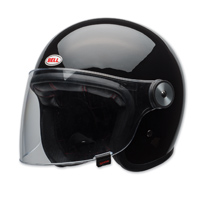 Bell LE Riot Gloss Black Open Face Helmet