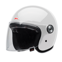 Bell LE Riot Gloss White Open Face Helmet