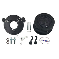 ThunderMax Accent Matte Black 3 Spoke Contrast Cut Air Cleaner