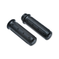 Kuryakyn Black Heavy Industry Grips with Cable Throttle