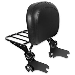 HogWorkz Quick Detachable Black Sissy Bar Backrest and Luggage Rack