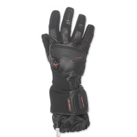 Mobile Warming Men's Barra Leather/Textile Heated Black 12v Golves