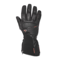 Mobile Warming Men's Barra Leather/Textile 7.4V Heated Black Gloves