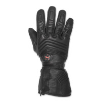 Mobile Warming Men's Blizzard Leather 7.4V Heated Black Gloves